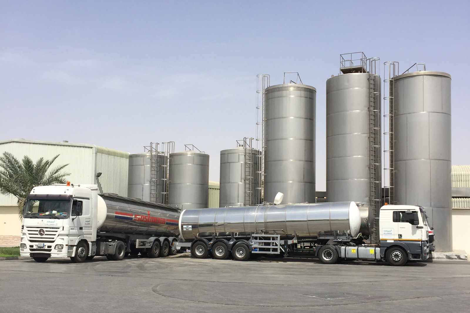 Road Tanker and silo for test
